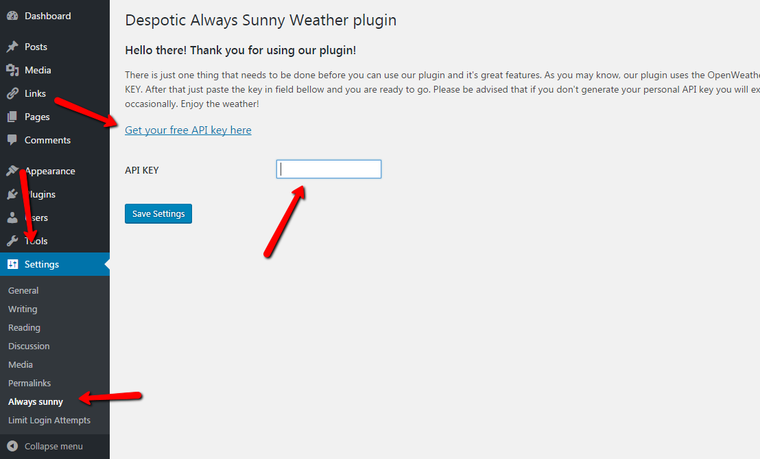 Despotic Always Sunny - Simple and easy to use weather plugin